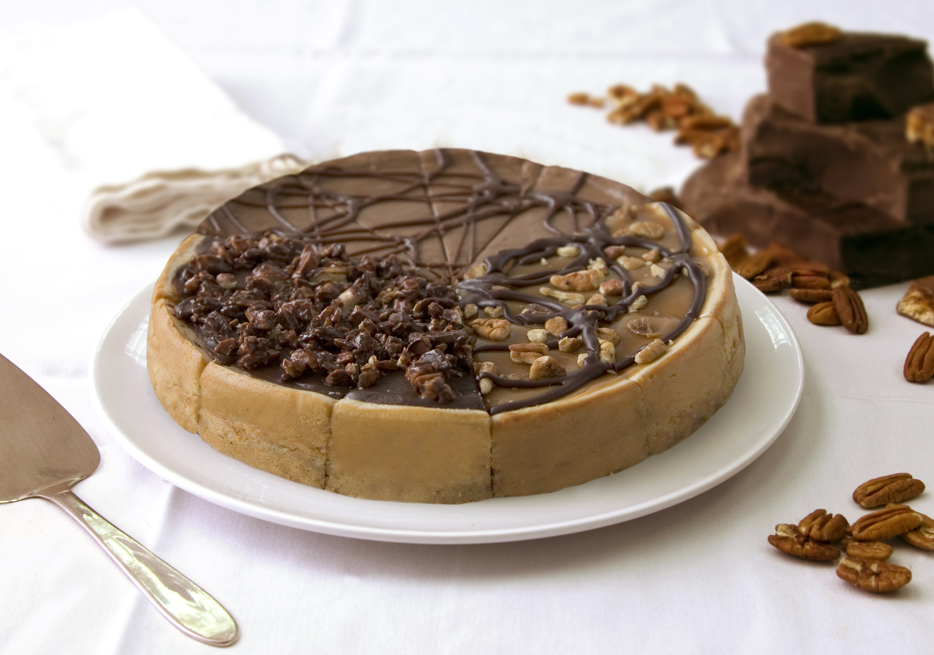 "Candy Sampler Cheesecake 7"" (4 slices each of 3 flavors: Hershey's Choc/Turtle/Heath Bar)"